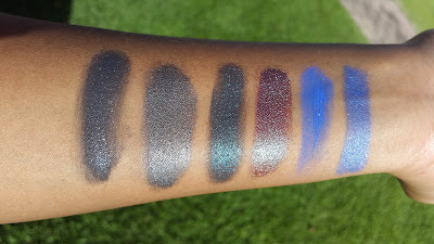 Pigment swatches www.modenmakeup.com