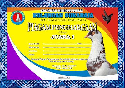 Piagam Burung Merpati