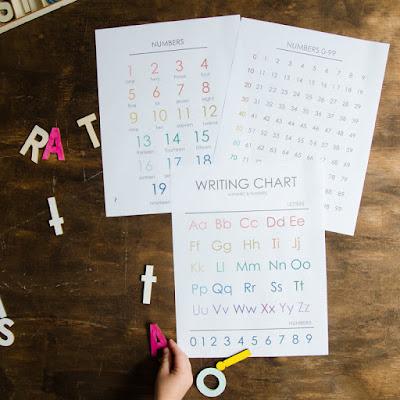 free printable alphabet charts