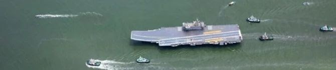 A Floating Island: Onboard India's First Indigenous Aircraft Carrier Ins Vikrant