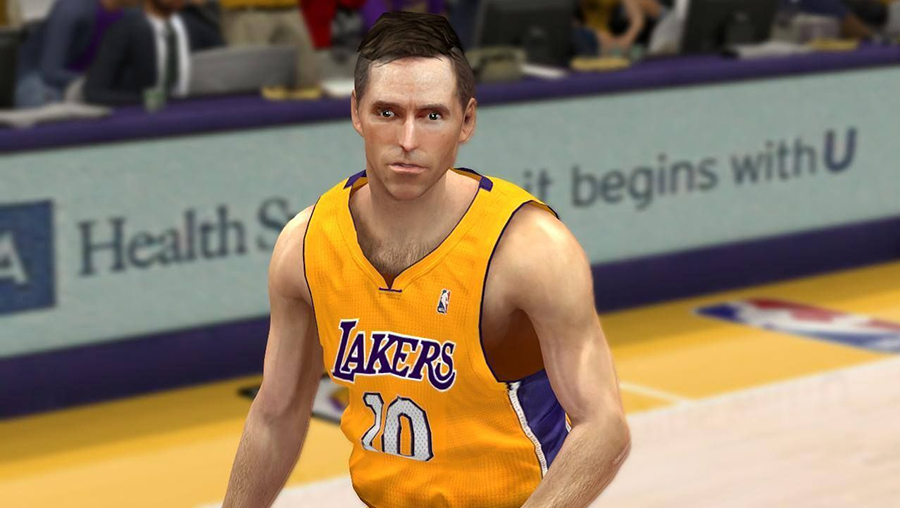 NBA 2K14 Steve Nash Cyberface Mod