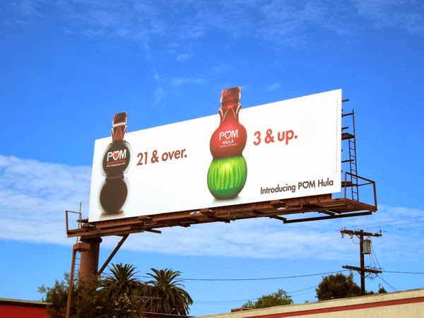 Pom Hula 21 over 3 up billboard