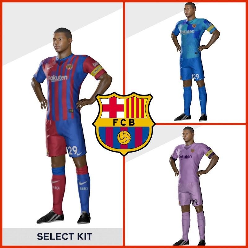 Kit Barcelona 2022 & Logo Dream League Soccer 2021