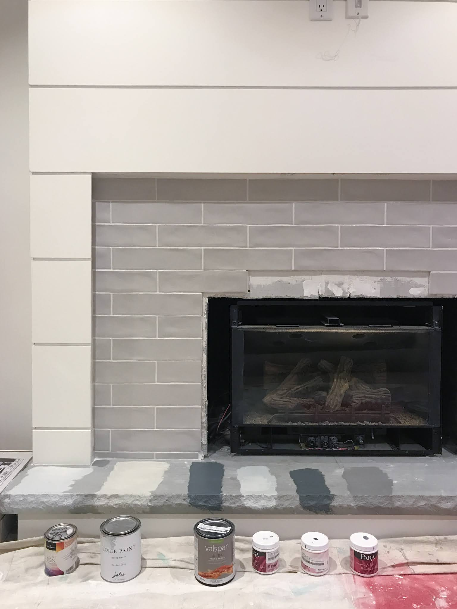 how to update a stone fireplace
