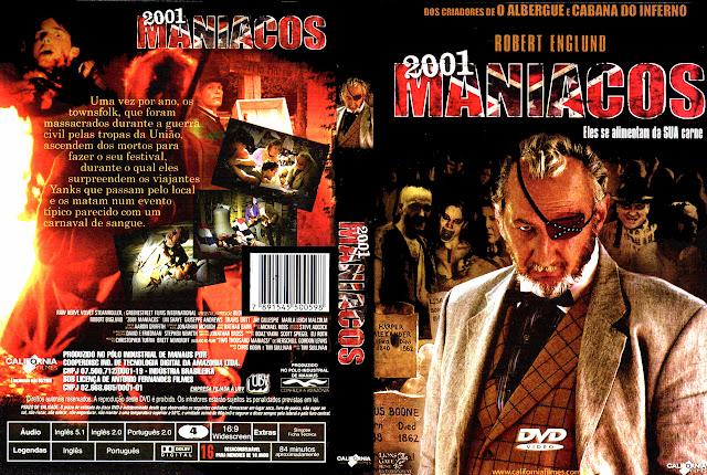 Capa DVD 2001 MANÍACOS