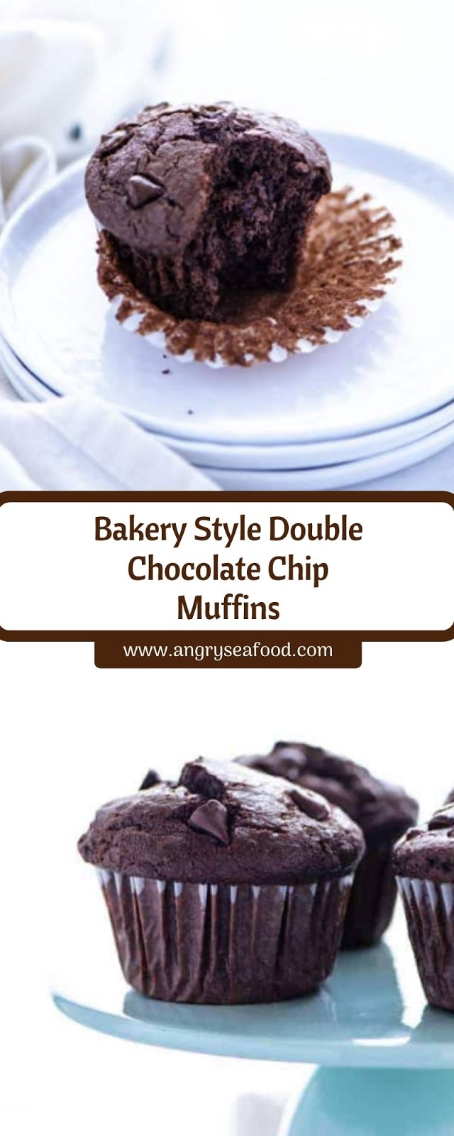 Bakery Style Double Chocolate Chip Muffins