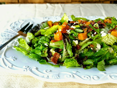 Fall Salad with Roasted Butternut Squash and Bacon