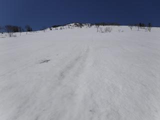 高田大岳の大斜面。