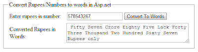 convert currency or number to words in asp.net c#