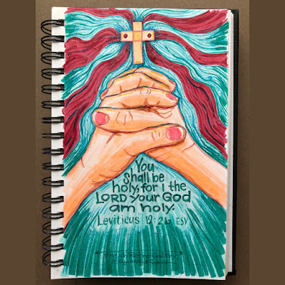 """Sketch of praying hands under the cross of Christ Jesus, His shed blood, the Holy Spirit's gift of faith given in the water of baptism and the Word. """"You shall be holy, for I the Lord your God am holy."""" Leviticus 19:2b ESVSketch of praying hands under the cross of Christ Jesus, His shed blood, the Holy Spirit's gift of faith given in the water of baptism and the Word. """"You shall be holy, for I the Lord your God am holy."""" Leviticus 19:2b ESV"""