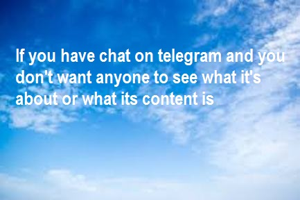 how to hide chats on telegram