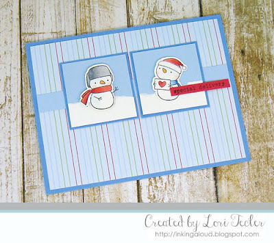 Special Delivery card-designed by Lori Tecler/Inking Aloud-stamps from Hello Bluebird