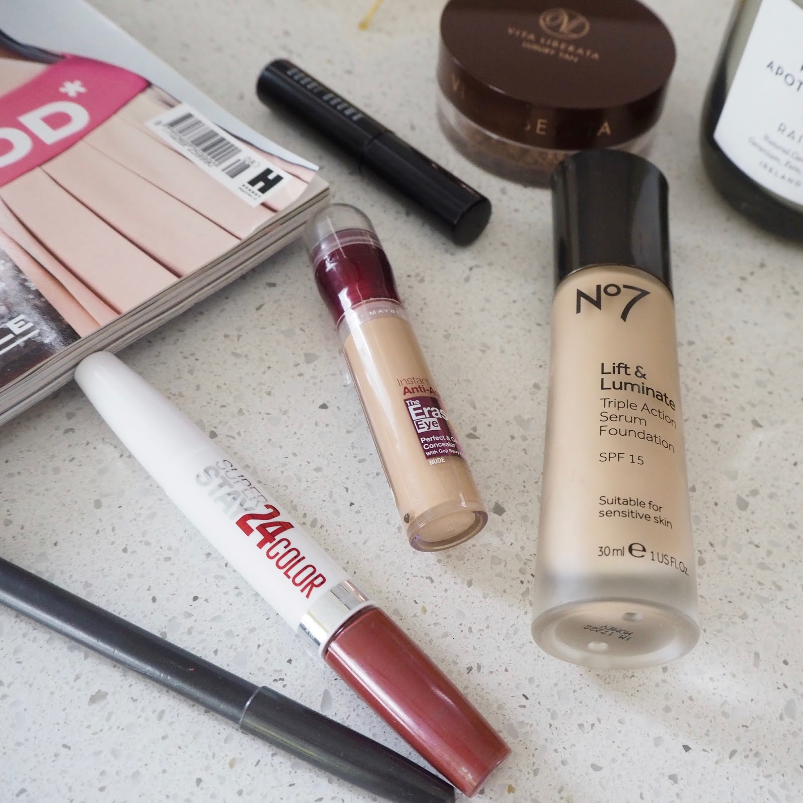 My 6 (7) Must Have Make Up Items | No  7 Lift & Luminate Foundation