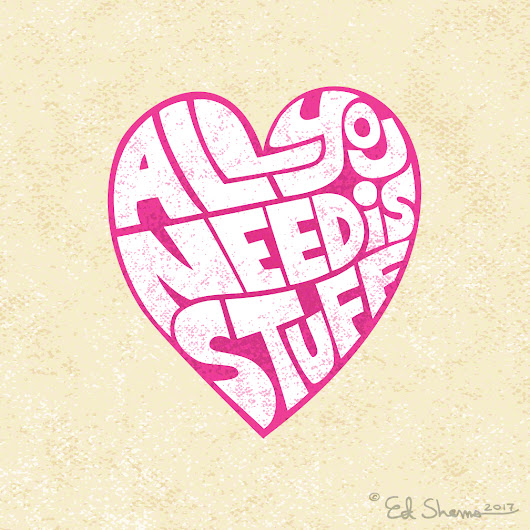 All You Need is STUFF; logo, print, icon