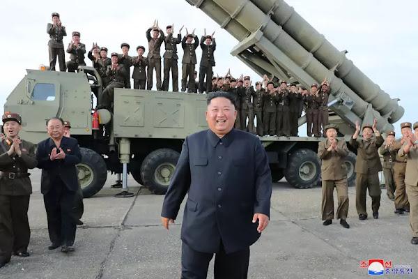 Kim Jong Un at new super-large MRL test-fire, August 2019