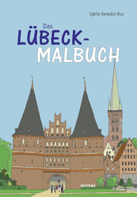 """Das Bücherboot: Kinderbücher aus dem Norden. """"Das Lübeck Malbuch"""" wartet mit typisch norddeutschen Motiven der Hansestadt auf."""