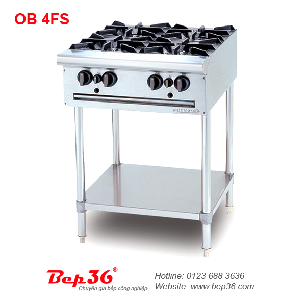 Bếp âu 4 họng Berjaya OB 4FS (chân cao)