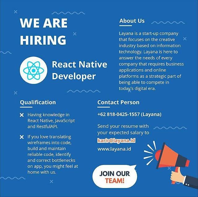 Lowongan Kerja React Native Developer
