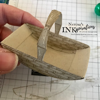The inside details of the basket... looks like hearthside type basket!  | Nature's INKspirations by Angie McKenzie