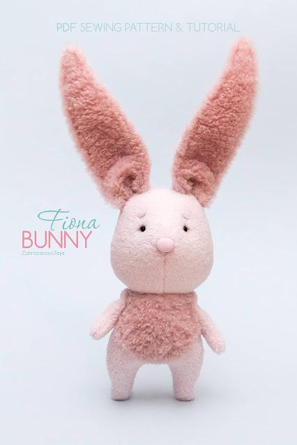 cute pink bunny rabbit toy DIY