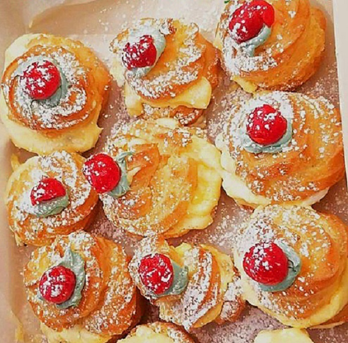 these are puff pastries filled with cream