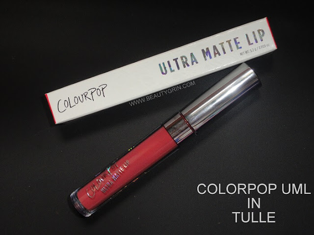 Colourpop Cosmetics Ultra Matte Lip in Tulle on Medium/Olive/Indian Skin : Detailed Review, Swatches, Where to buy in India Online