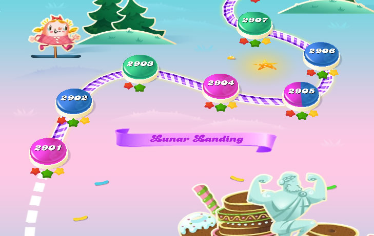Candy Crush Saga level 2901-2915