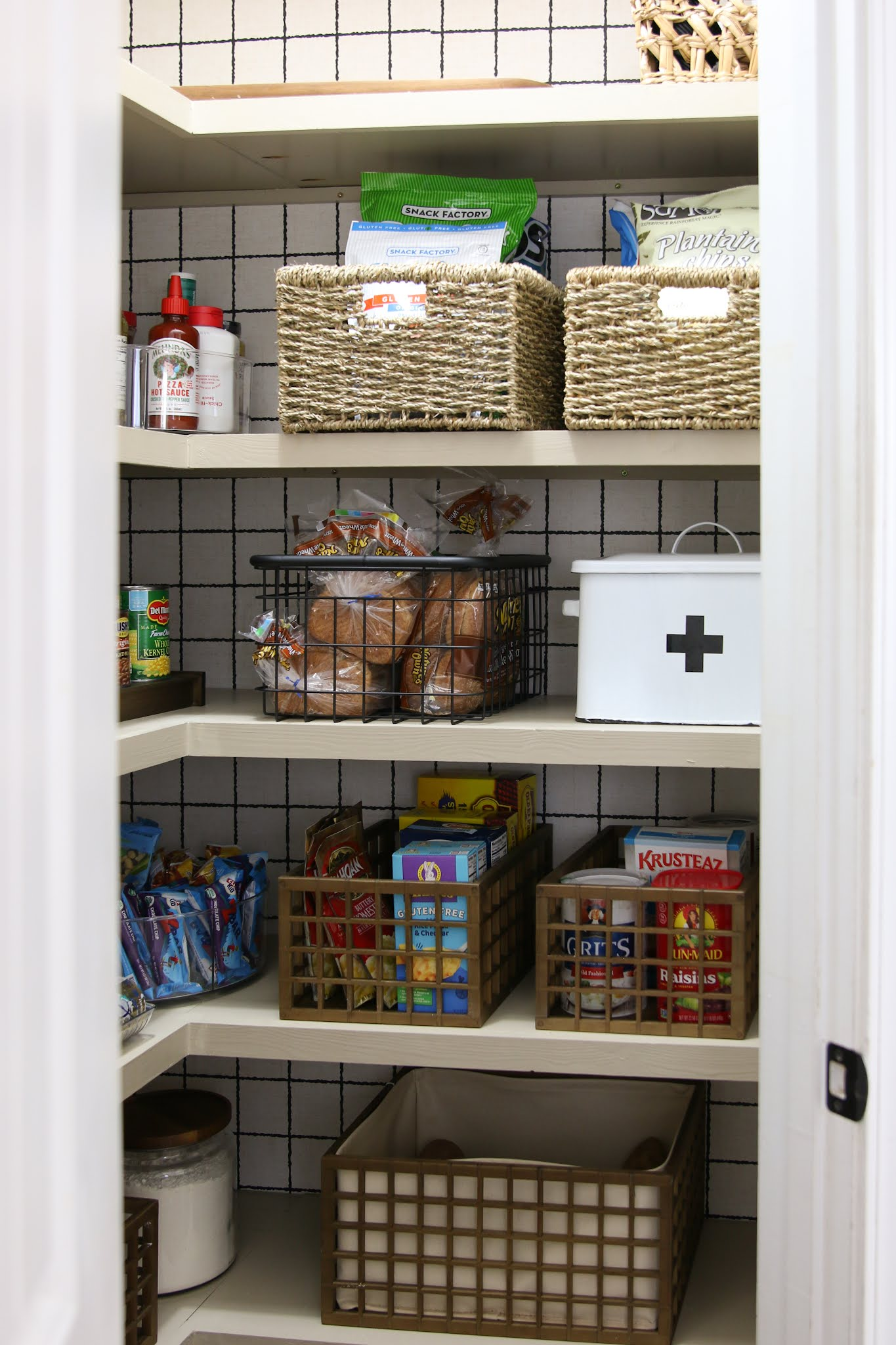 How to Build Shelving in a Corner Pantry Plus Pantry Sources!