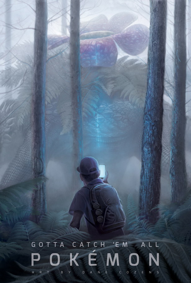 Fan art Pokémon Go by Dane Cozens