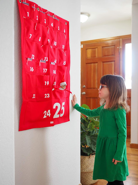 advent calendar and elf on the shelf