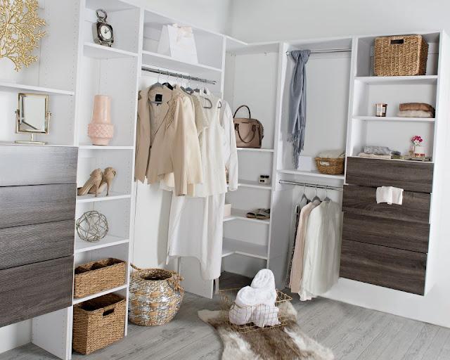 Ladies organized closet