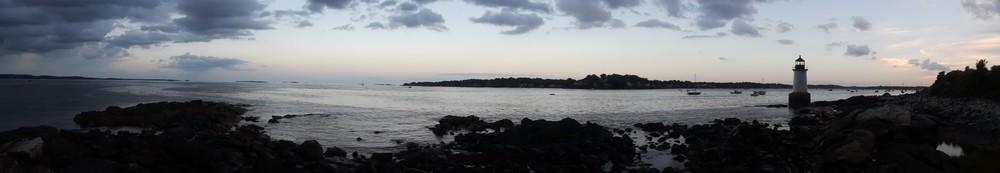 Coucher de soleil à Winter Island