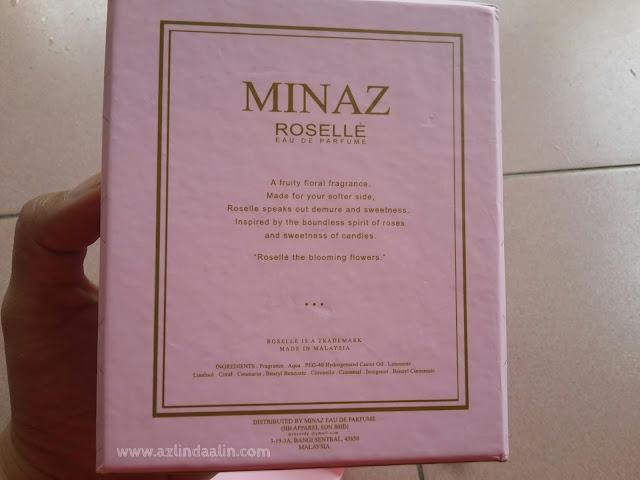 Dapat Juga ROSELLE Eau De Parfume MINAZ Murah Masa Boxing Day