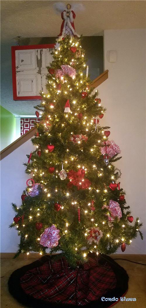 Heart Christmas tree decorations