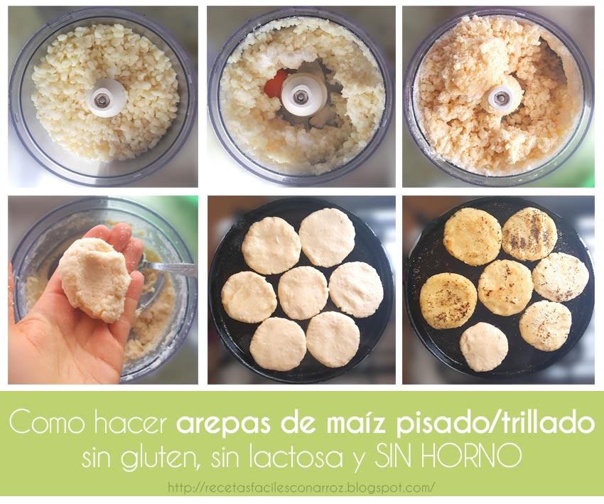 receta arepas maiz blanco trillado
