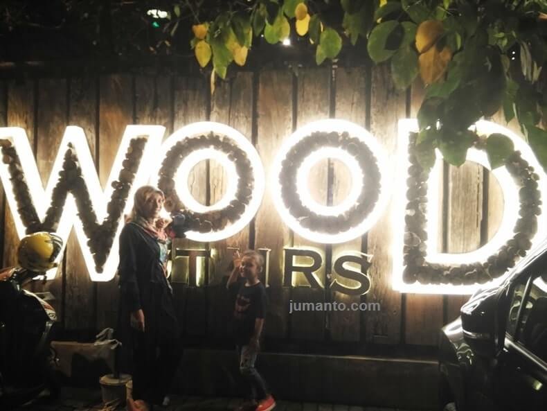 wood stairs cafe lampung