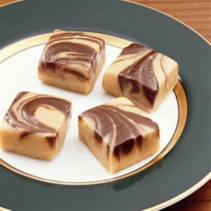Chocolate Peanut Butter Swirled Fudge