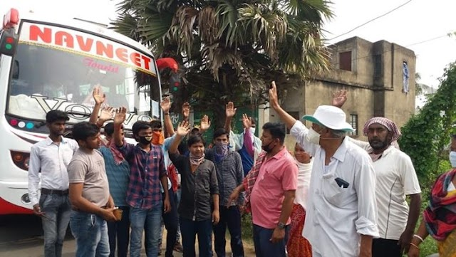 24 Workers Of Bihar Trapped In Lock Down In Kharagpur Returned To Their Homes
