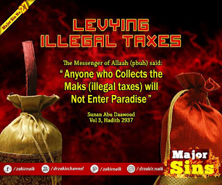 MAJOR SIN. 27. LEVYING ILLEGAL TAXES
