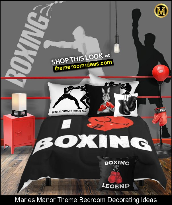 boxing bedroom decorating boxer wall decal boxing bedding bexing bedroom decor