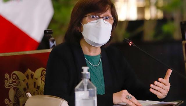 Ministra de Salud, Pilar Mazzetti.