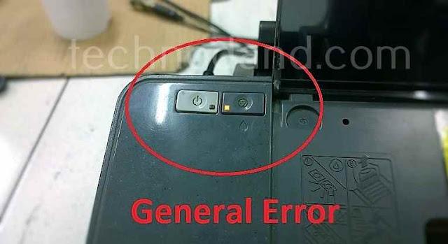 Mengatasi General Error Pada Printer Epson C90 T11  Lampu Tombol Resume Menyala