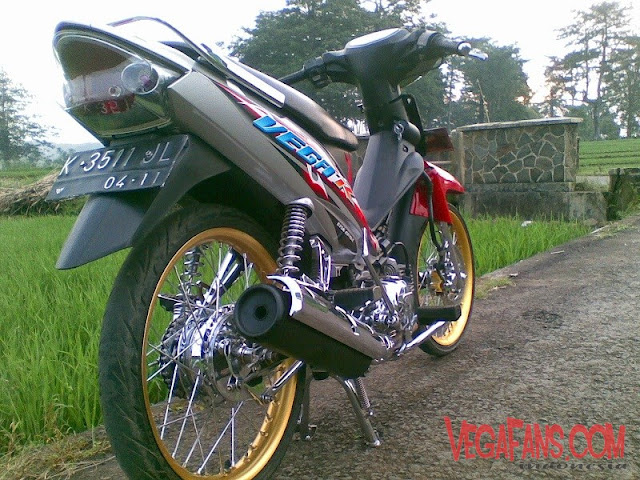Modifikasi Vega R Merah Abu Abu Modif Standar Simple