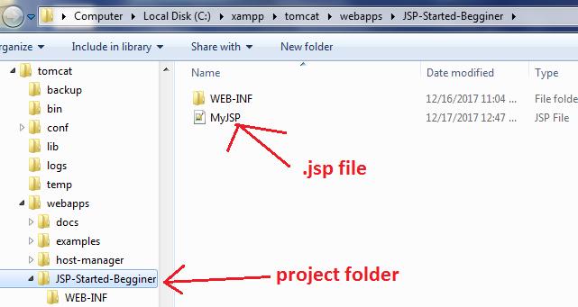 Create JSP Project in XAMPP Server