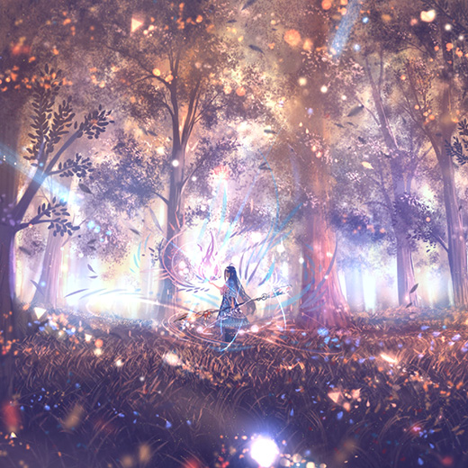 Anime Magic Girl Wallpaper Engine