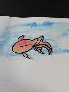 黒紙×水彩絵の具で塗った紙の切り絵(淡い背景)