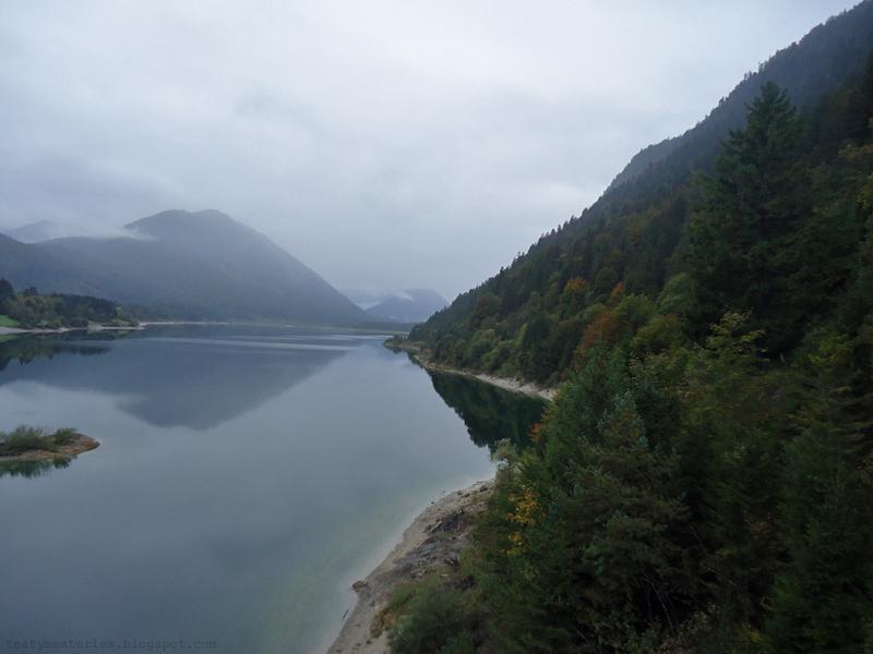 Sylvenstein Dam in Bavaria, Germany