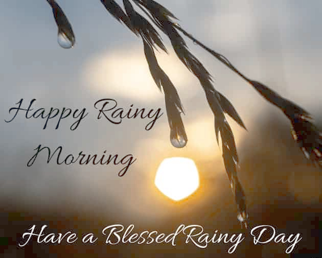 rainy season good morning images