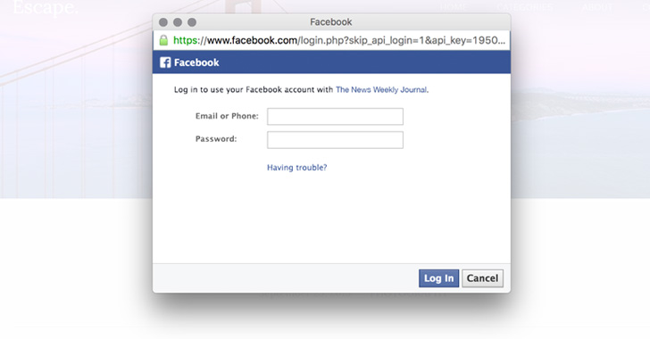 Login with Facebook | The Hacker News — Latest Cyber