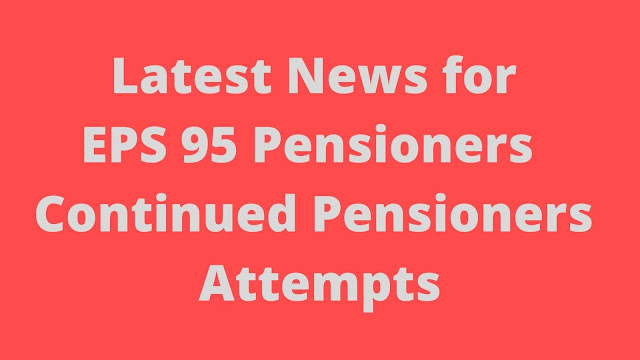 Latest News for Eps 95 Pensioners